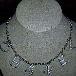 Chanel metal strass crystal necklace